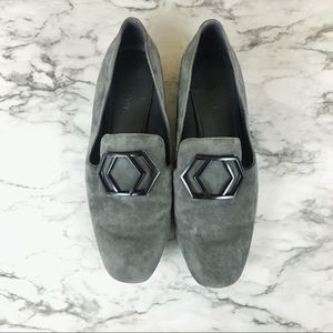 Nine West Grey Suede Loafers